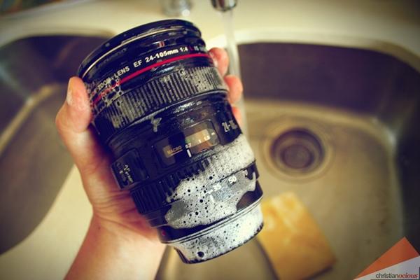 como limpiar la lente de una camara