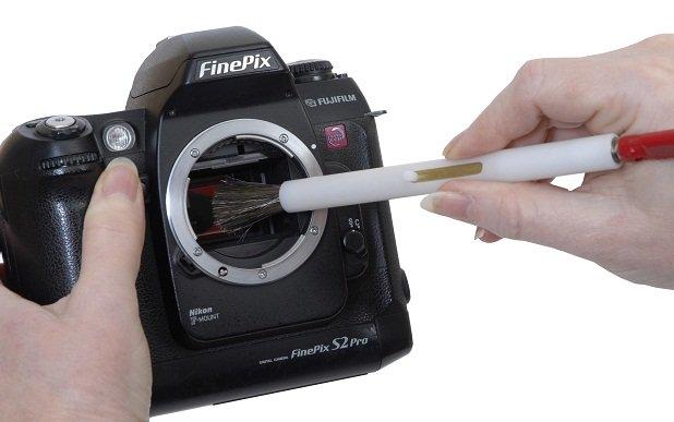 limpiar la lente de una camara