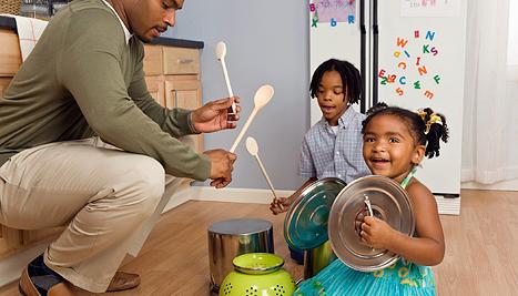 los ninos y los instrumentos musicales